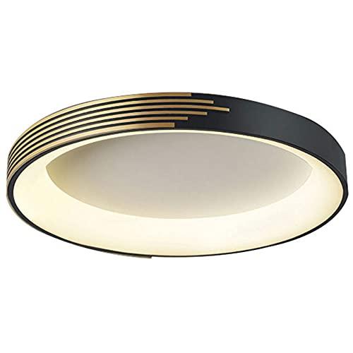CHENKUI Lámpara De Techo LED De Montaje Empotrado Simple Lámpara De Techo Creativa Ajustable De 3 Colores Accesorio De Iluminación Redondo Moderno Plano para Dormitorio, Comedor Y Sala De Estar.