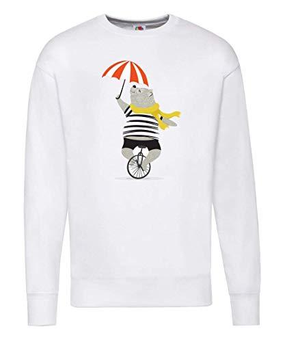 Druckerlebnis24 Pullover - Einrad Zirkus Bär Regenschirm - Sweatshirt Unisex für Kinder - Junge und Mädchen