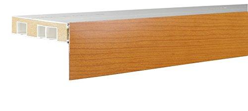 Liedeco Aufklipsblende Aufsteckblende für Gardinenschiene 5 cm/ 7,5 cm kirschbaum (ki.