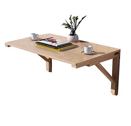 Opklapbare tafel Tuintafels eettafel Massief hout eettafel voor kleine ruimtes, Vouwbureau voor computer muur Muur leren Vouwbureau (Afmetingen: 80 * 50cm)