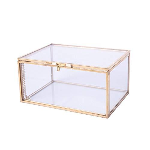 Ringschachtel, Glas Elegante Verlobung Ehering Box Kosmetischer Aufbewahrungskoffer Desktop Container Für Transparente Make Up Tools