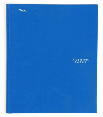Five Star 2-Pocket Folders with Prong Fasteners, Folders with Pockets, Blue (72365)