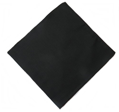Western Ranch Bandana Halstuch Nikkituch Kopftuch Baumwolle viele leuchtende Uni Farben aussuchen (schwarz)