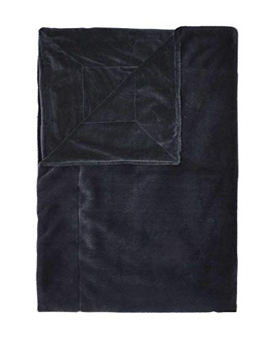 ESSENZA Plaid Furry Uni Kunstfell Blau, 150x200 cm