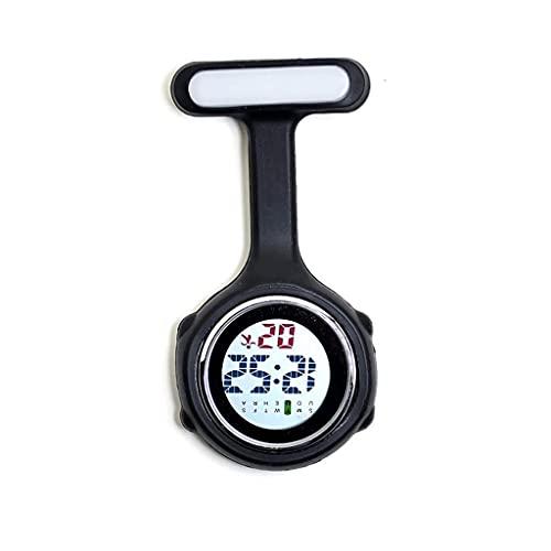 Klassische stilvolle Taschenuhr.Digitale Krankenschwester Taschenuhr/Hängeuhr,Infektionskontrolle Design,Silikon medizinisches/Pflegepersonal/Jacke/Tasche/Karabiner Uhrenarmband (Farbe: F) präzise
