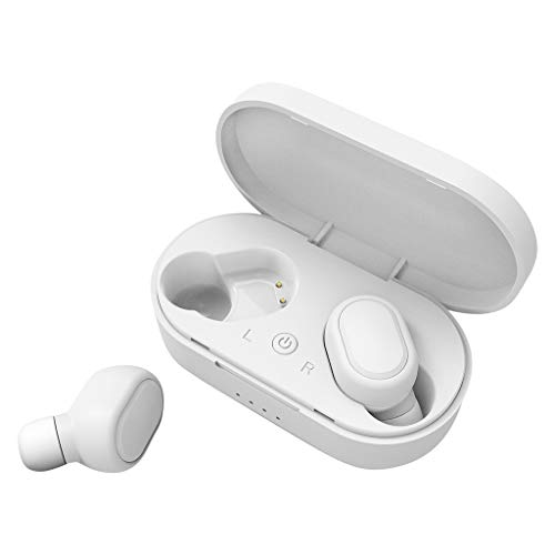 TeaBoy Mini Wireless Earbuds,V5.0 Stereo Bluetooth Headphones with Built-in Mic,Invisible Noise Cancelling in-Ear Earphone Car Headset Fit for iPhone Samsung and Other Android Phones