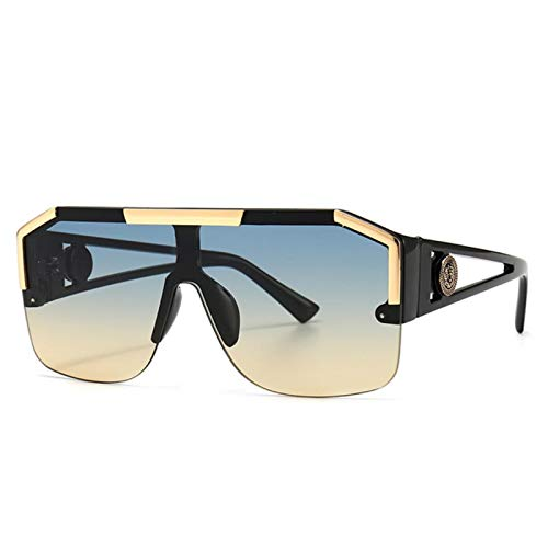 UKKD Fashion Big Square Sunglasses Hombres Estilo Degradado Conducción Retro Diseño Gafas De Sol Uv400