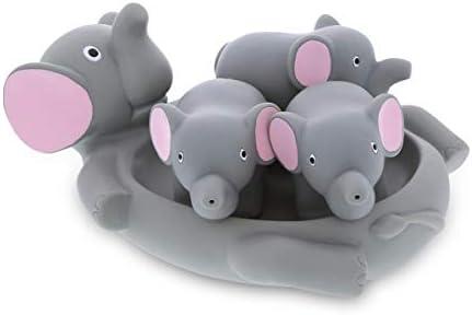 DolliBu Elephant Family Animal Bath Squirters 4 Piece Bath Toy Set Children Bath Toys for Bathtime product image
