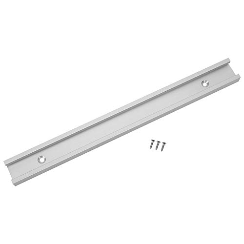 T-Slot Miter Track Jig, Surface Anodizing Non-Porous Slide Slab Fixture Woodworking Tool Aluminum Alloy for Routers, Band Saws(300mm)