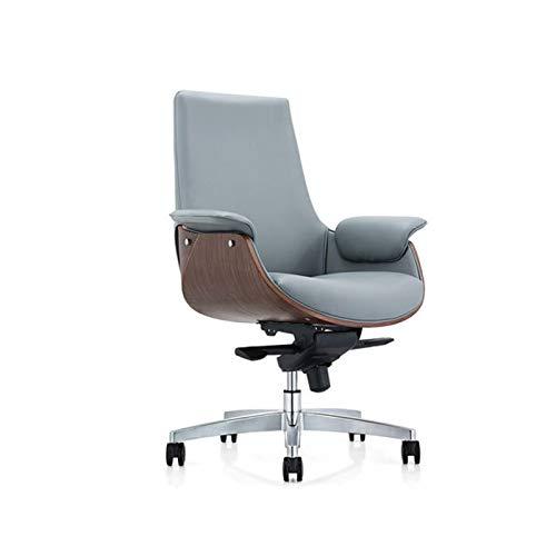 ZLQBHJ kontorsstol, ARBETSSTOLAR Home Office Arbetsstolar Managerial Stolar verkställande stolar Möbler Mid-Back Black Executive Swivel Office karmstol (Size : Low back Microfiber Leather)