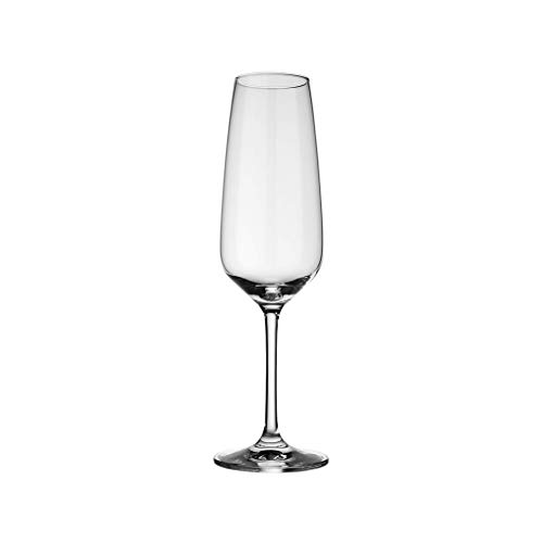 like. by Villeroy & Boch – Voice Basic Sektglas-Set, 4 tlg., 283 ml, Kristallglas, spülmaschinengeeignet