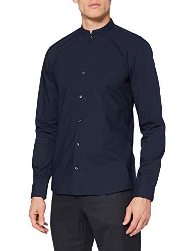 HUGO Mens Elvorini Shirt, Navy (413), M