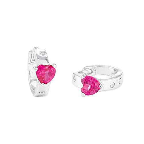 amor Creole für Mädchen 925 Sterling Silber Zirkonia weiß pink