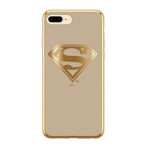 Estuche para iPhone 7 Plus/8 Plus DC Superman, Original con Licencia Oficial, Carcasa, Funda, Estuche de Material sintético TPU-Silicona, Protege de Golpes y rayones