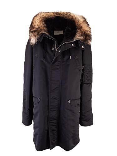Céline Luxury Fashion Herren 2W094679F38NO Schwarz Polyester Mantel | Herbst Winter 19