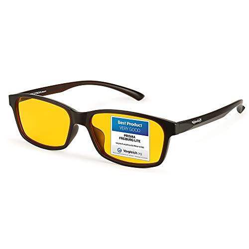 PRiSMA FREiBURG LiTE Blaulichtfilter-Brille - augenschonende Bildschirmarbeit bei Tag und Nacht - F704 N