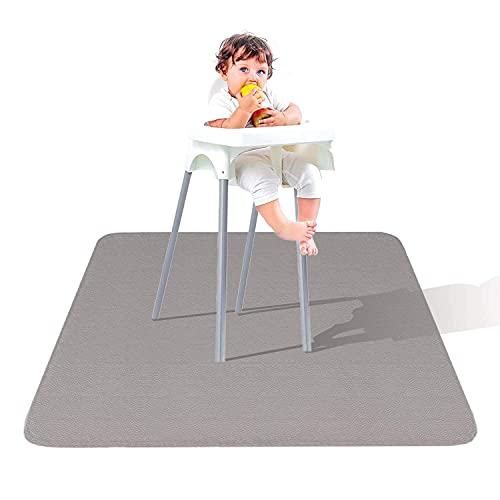 Leather Splat Mat - Waterproof Baby High Chair Floor Mat   High Chair Mat   Splat Mat for Under High Chair   Baby Food Mat   Splash and Spill Mat   Under Highchair Mat