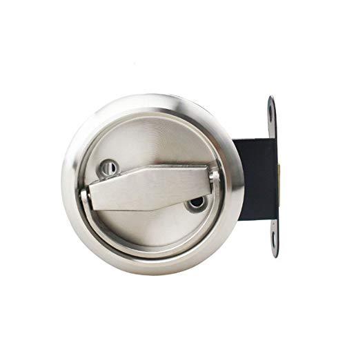 NUZAMAS - Serratura rotonda per porta, in acciaio inox 304, per camera da letto, cucina, bagno, lavanderia, porte privacy