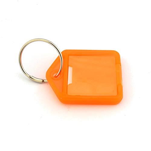 Schlüsselanhänger mit Schüsselring und Beschriftungsfeld - Aufklappbar - 38x27mm - DER KLEINE - mehrere Farben zur Auswahl - Orange - 10er Pack