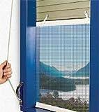 Mosquitera plisada para ventanas, 134x 100cm (largo x alto)