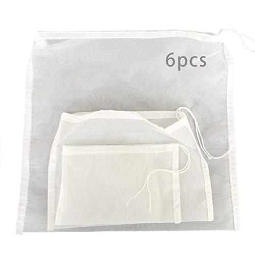 Bolsa de leche de nuez de 6 piezas, colador de alimentos reutilizable...