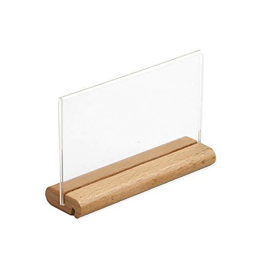 BANMYZZ T-Form-Namenskarte anzeigen Acrylglasplatte aus Holz Tabellen-Menü-Zeichen-Halter-Standplatz-Preis Papiermarken Etikett Scrabblezeichen und andere Erinnerungsstücke Werben