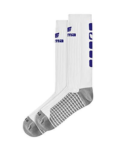 ERIMA Erwachsene Socken CLASSIC 5-C lang, weiß/new navy, 39-42, 2181932