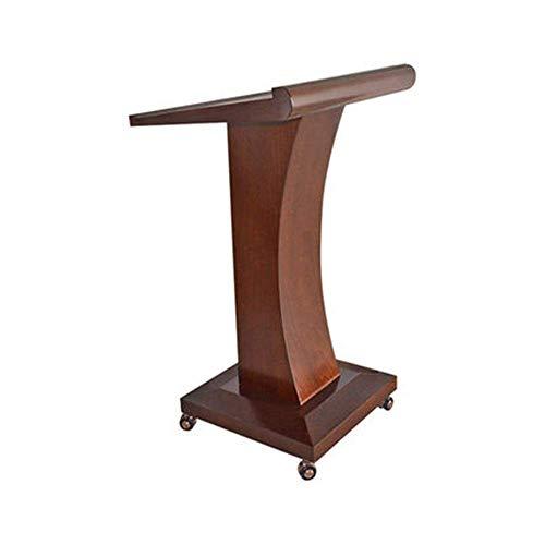 NBVCX Lebensdekoration Lectern Mobile Rolling Lectern Podium Tisch Hosting Empfang Schreibtisch Präsentation Holz Lectern Stand Podien (Farbe: Braun Größe