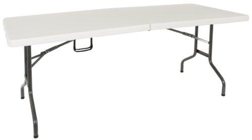 Dario Tools CMB418476 - Tavolo pieghevole, 184 cm, colore: Bianco