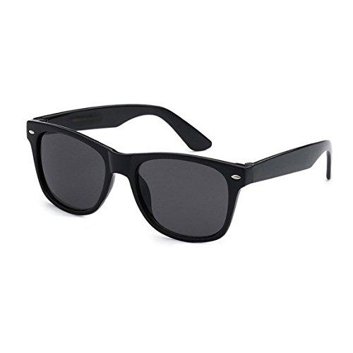 LANGING Kids zonnebril UV400 kunststof Wayfarer stijl frame klassieke retro tinten voor jongens en meisjes