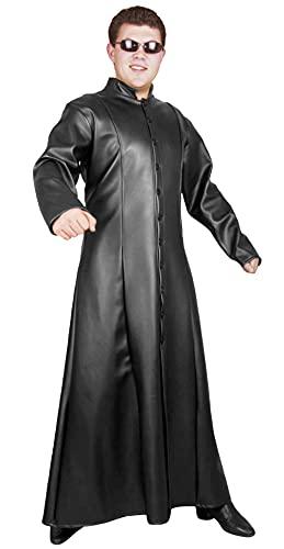 Charades mens Neon Ex Machina Jacket Costume Outerwear, Black, X-Large US