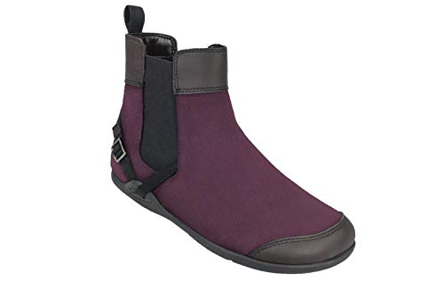 Xero Shoes Vienna - Women's Canvas Ankle Boots - Barefoot Inspired Minimalist Zero Drop Chelsea Style Boot - Merlot