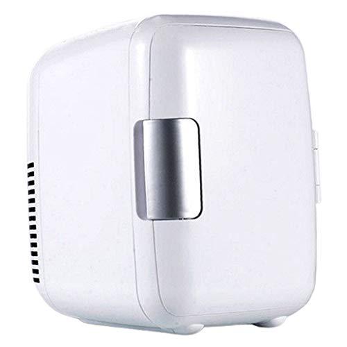 YUQIYU 12V 8L MINI Coche Refrigerador Verano Oficina de viaje al aire libre Nevera para la comida (Color : White)