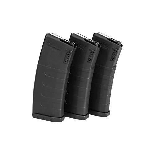 KWA AEG 3-Pack of 6mm 30-120rd K120C ERG/AEG2.5/AEG3 Mid-Capacity Airsoft Magazines (197-04110)