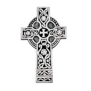 Pewter Celtic Cross - Visor Clip Motorist Irish - Ireland Prayer for Car - Automobile - Great Gift - Never Drive Faster Than Your Guardian Angel Can Fly