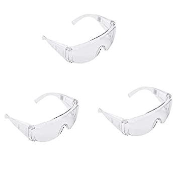 Eoeth 3Pcs Unisex Safety Goggles,Anti-Fog,Anti-Liquid Splash,Proof Scratch Impact,Anti-UV Coating Clear Lens Industrial Strength Eye Protection Protective Lab Workplace Glasses Eye Shield Spectacles