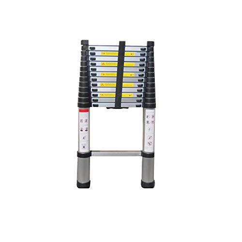 Escalera Telescópica 4.4 Metros De Un Solo Lado, Portátil Escalera De Aleación De Aluminio Para Uso Doméstico Ascensor Escalera Recta Comunicación Proyecto Plegable Escalera De Bambú