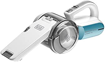 Black+Decker 10.8V 1.5Ah Li-Ion Dustbuster Pivot Cordless Handheld Vacuum for Home & Car, Blue/White - PV1020L-B5, 2...