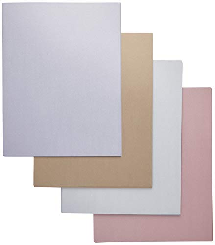 Metallic Paper Sheets for Crafting (8.5 x 11 Inches, 6 Colors, 96-Pack)
