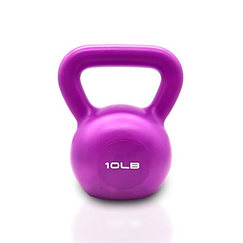 IFAST Women Exercise Kettlebells with Vinyl Coated Strength Training Kettle Bell for Home Workout, Strong Grip Weights Set 5/10/15/20lb (10)