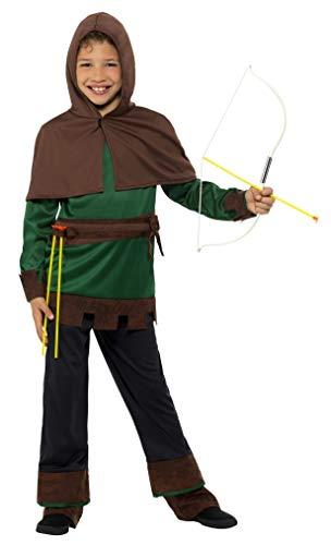SMIFFY 'S 49708s Robin Hood Kostuum, groen/bruin, klein