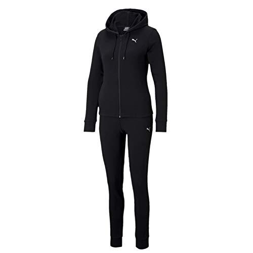 PUMA Damen Classic Hd. Sweat Suit TR Trainingsanzug, Black, L