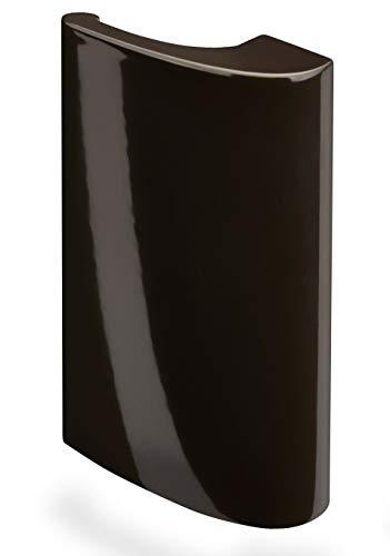 Balkontürgriff Deluxe aus Aluminium – Ziehgriff für Balkon und Terassentür – Balkongriff in dunkelbraun RAL 8077 - Terassentürgriff für Außen – Türgriff mit verdeckter Verschraubung