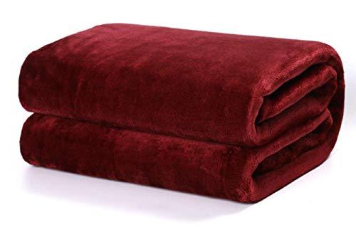 TIENDA EURASIA® Mantas para Sofá de Terciopelo - Material 100% Microfibra - Tacto Suave Sedalina (Burdeos, 130 X 160 CM)