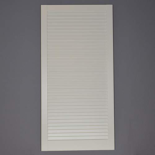 Preisvergleich Produktbild Lamellentür Kiefer weiss lackiert mit geschlossenen Lamellen 99, 3 cm x 49, 4 cm in 21 mm Stärke - Staubdicht,  Lichtdicht - weiße Lamellentüren als Schranktür,  Möbeltür oder Regaltür