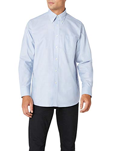 Fruit Of The Loom Oxford, Camicia Uomo, Blu (Oxford Blue), XX-Large