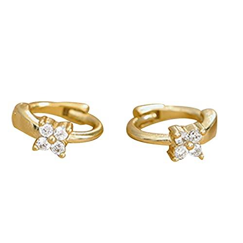 lefeindgdi Un par de pendientes S925, pendientes personalizados, mini joyería geométrica de plata regalo para niñas