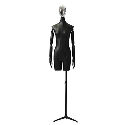 AJZGF Maniqui de Costura maniquí de costurera Torso escaparate Tienda de Ropa (Negro) maniqui Mujer