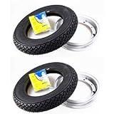 Par de ruedas completas montadas para Vespa 50 HP con: 2 llantas, 2 neumáticos Michelin S83 tamaño 3.00 - 10 42J, 2 cámaras de aire.