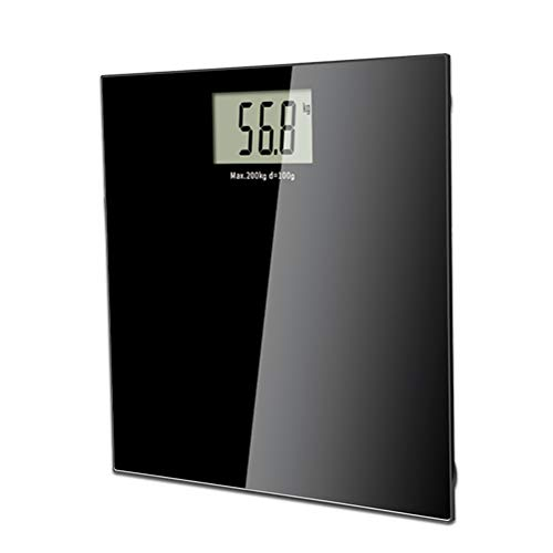 Digital Body Weight Scale Waterproof Bathroom Scale Tempered Glass Balance Scale LCD Display Precision Measurements(Black)